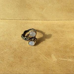 Amethyst & Moonstone Handmade Ring